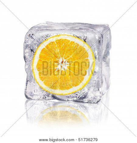 Orange In An Ice Cube