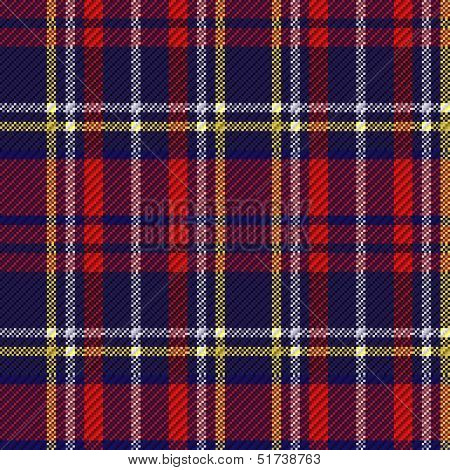 Seamless Checkered Red And Blue Pattern