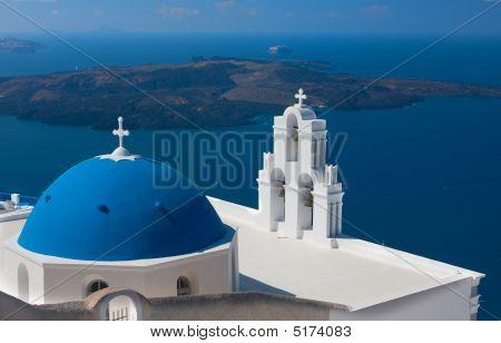Church From Santorini, Greece