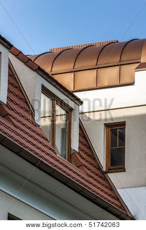 Wooden Windows On The Roof