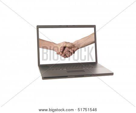 Laptop displaying