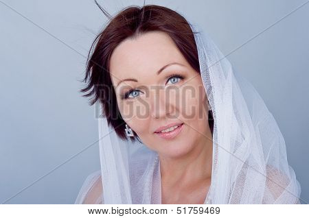 A Beautiful Woman In A White Shawl
