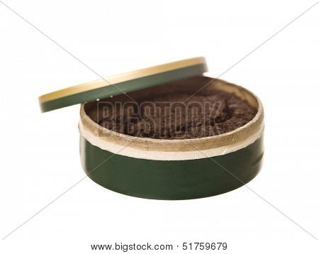 Box of Snuff isolated on white background