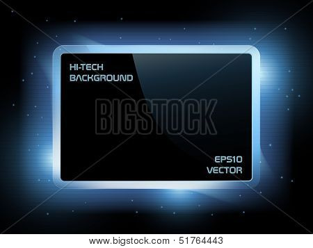 Blue techno background