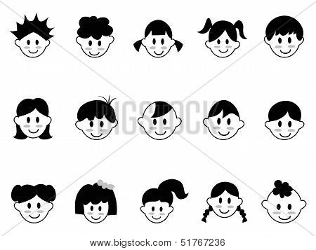 Kids Head Icons