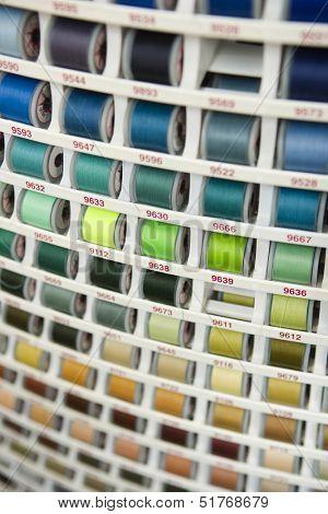 Full Frame of Thread Reels