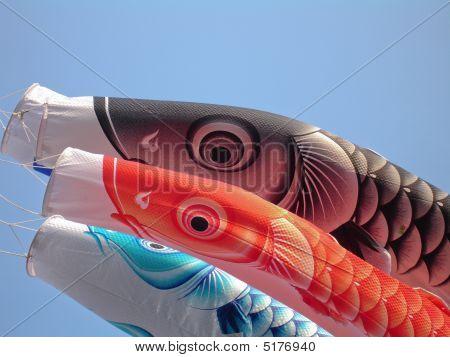 Koi nobori fish flags image photo bigstock for Japanese fish flag
