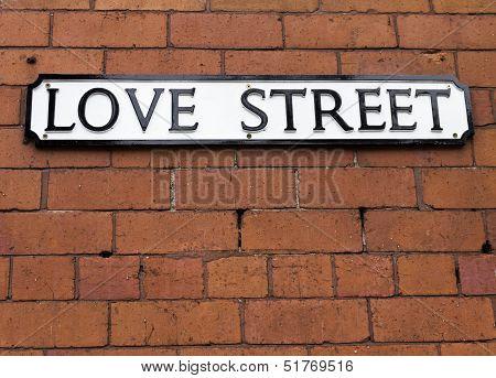 Love Street Sign