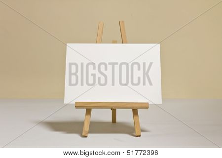 Whiteboard on wooden easel