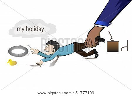 Worker Wants His Holiday