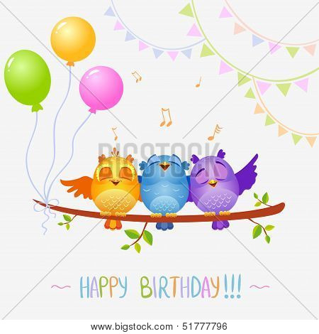 Birds sing birthday