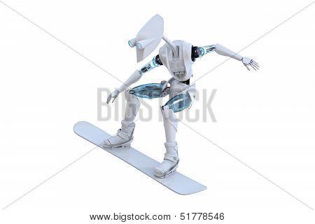 Robot Snowboarder