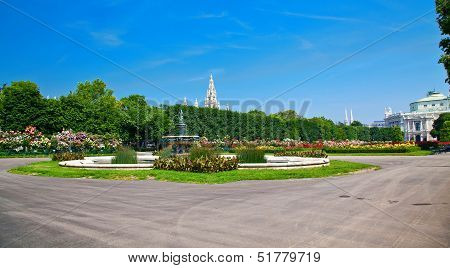 Panorama Of Volksgarten, Austria