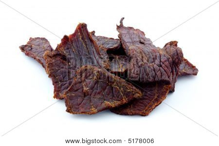 Beef jerky pieces