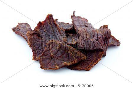 Beef jerky pieces