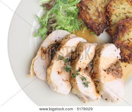 Pechuga de pollo asado con relleno