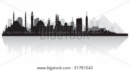 Cairo Egypt City Skyline Vector Silhouette