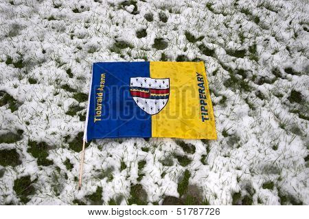 Tipperary Flag Against Snow