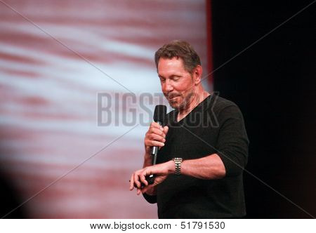 San Francisco, Ca, Sept 22, 2013 - Ceo Of Oracle Larry Ellison Makes His Speech At Oracle Openworld