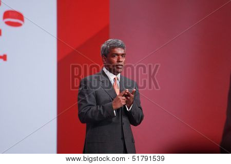 San Francisco, Ca,  Sept 23, 2013 - Oracle Executive Vice President Thomas Kurian Makes Speech At Op