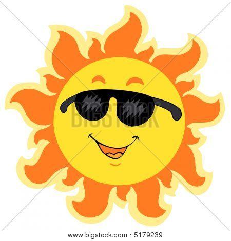 Leuke zomer zon met zonnebril