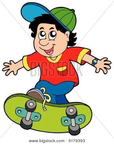 Skateboarding Boy