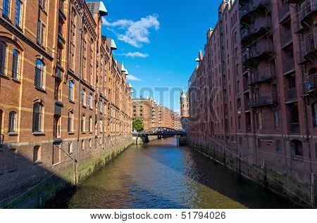 The Speicherstadt in Hamburg
