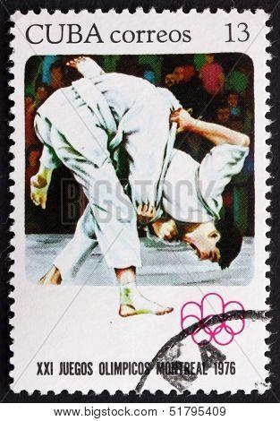Postage Stamp Cuba 1976 Judo, Summer Olympics, Montreal