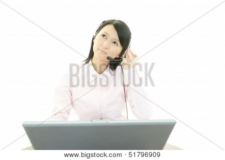 Dissatisfied call center operator