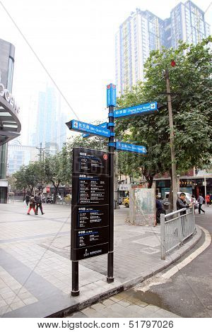 Chinese Direction Sign