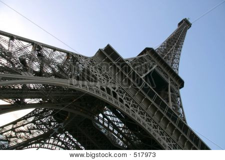 Eiffel Tower Abstract View