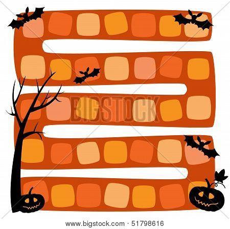 Vector Illustration Of Halloween Board Game For Children
