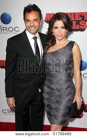 LOS ANGELES - OCT 2:  Eugenio Derbez, Alessandra Rosaldo at the