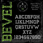 picture of slab  - Handmade retro font - JPG