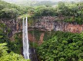 stock photo of mauritius  - Chamarel waterfalls in Mauritius - JPG