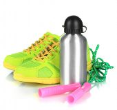 stock photo of skipping rope  - Sports bottle - JPG