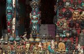 stock photo of curio  - Curio shop selling hand made crafts in Bhaktapur Nepal - JPG