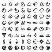 stock photo of hot-weather  - Set of flat icons about The Weather - JPG