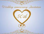 foto of 50th  - 50th Wedding anniversary Invitation - JPG