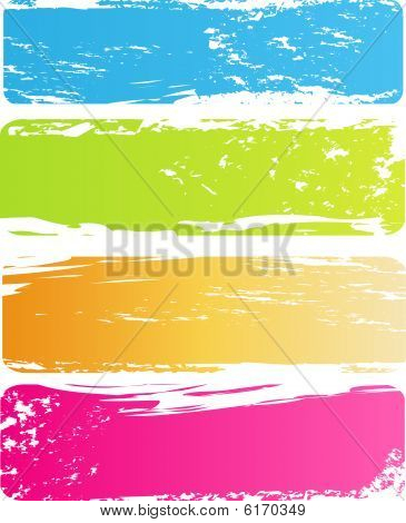 Grunge multicolored banners