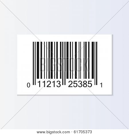 Bar code tag illustration isolated. (EPS vector version also available in portfolio)