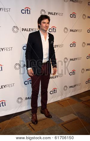 LOS ANGELES - MAR 16:  Ian Somerhalder at the PaleyFEST -