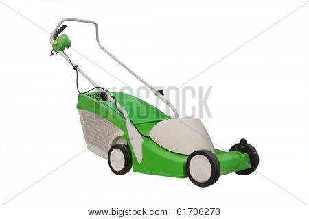 lawn-mower isolated under the white background