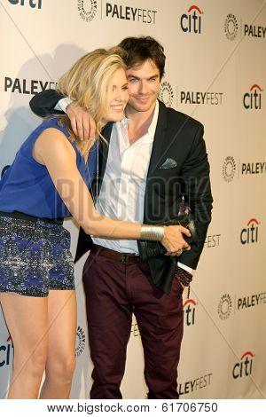 LOS ANGELES - MAR 16:  Maggie Grace, Ian Somerhalder at the PaleyFEST -