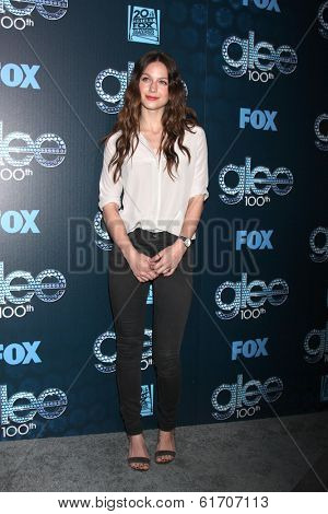 LOS ANGELES - MAR 18:  Melissa Benoist at the GLEE 100th Episode Party at Chateau Marmont on March 18, 2014 in West Hollywood, CA