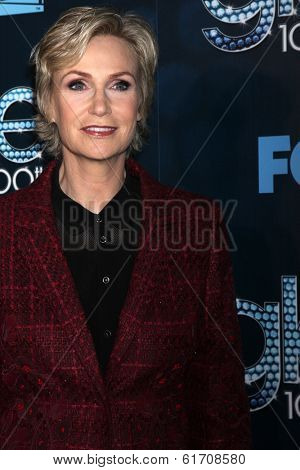 LOS ANGELES - MAR 18:  Jane Lynch at the GLEE 100th Episode Party at Chateau Marmont on March 18, 2014 in West Hollywood, CA