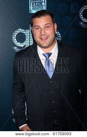 LOS ANGELES - MAR 18:  Max Adler at the GLEE 100th Episode Party at Chateau Marmont on March 18, 2014 in West Hollywood, CA