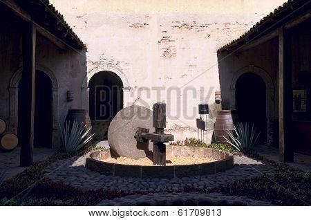 Stone Mill At La Rojena In Tequila