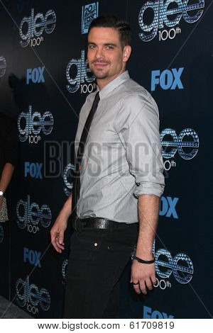 LOS ANGELES - MAR 18:  Mark Salling at the GLEE 100th Episode Party at Chateau Marmont on March 18, 2014 in West Hollywood, CA