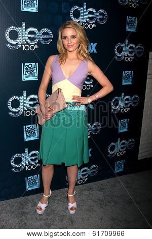 LOS ANGELES - MAR 18:  Dianna Agron at the GLEE 100th Episode Party at Chateau Marmont on March 18, 2014 in West Hollywood, CA